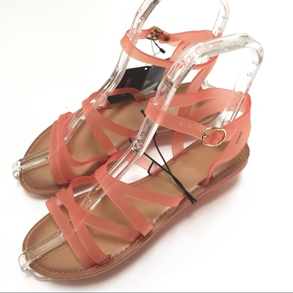983e319dcf9 Forever 21 Coral Jelly Sandals   Shoes Size 7